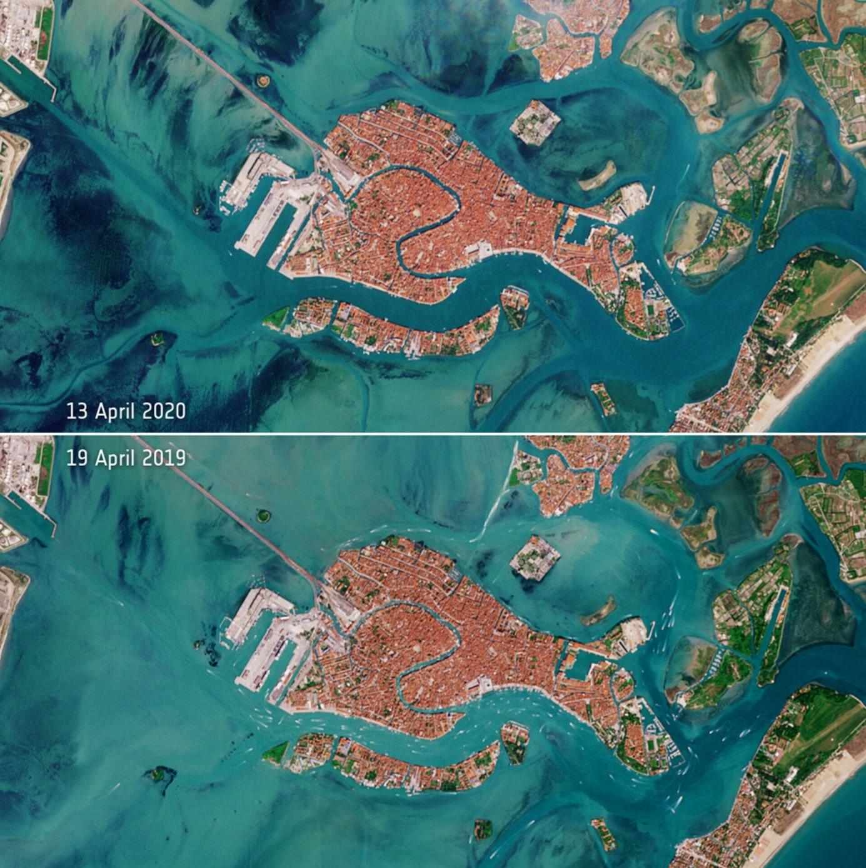 Izvor: https://www.esa.int/ESA_Multimedia/Images/2020/04/Deserted_Venetian_lagoon